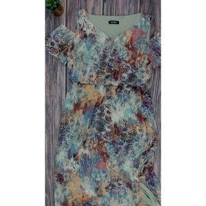 Nine West Cold Shoulders Casual Maxi Dress